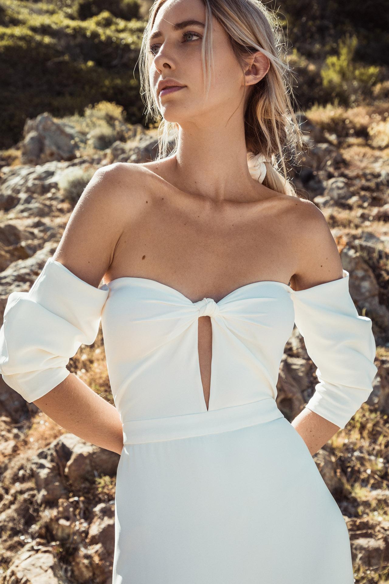 robe de mariee en crêpe robe de mariee simple